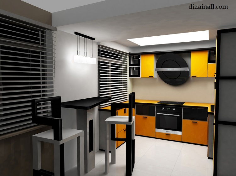 Interior design for the kitchen in the style of the Bauhaus-6